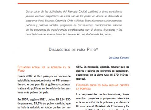Enbreve 4: Diagnóstico de País: Perú