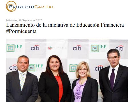 Lanzamiento de la Iniciativa de Educación Financiera #Pormicuenta
