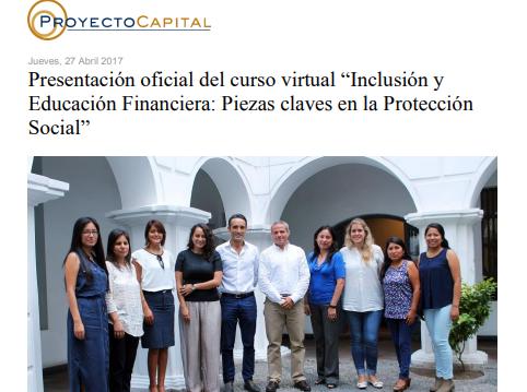 """Presentación Oficial del Curso Virtual """"Inclusión y Educación Financiera: Piezas Claves en la Protección Social"""""""