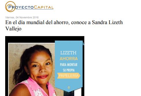 En el Día Mundial del Ahorro, Conoce a Sandra Lizeth Vallejo