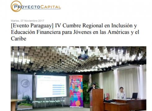 [Evento Paraguay] IV Cumbre Regional en Inclusión y Educación Financiera para Jóvenes en las Américas y el Caribe