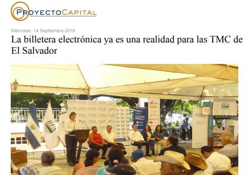 La Billetera Electrónica Ya es una Realidad para las TMC de El Salvador