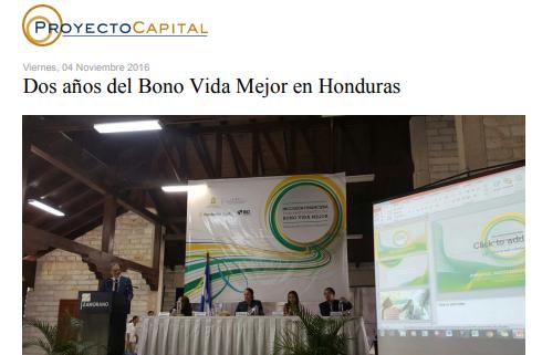 Dos Años del Bono Vida Mejor en Honduras
