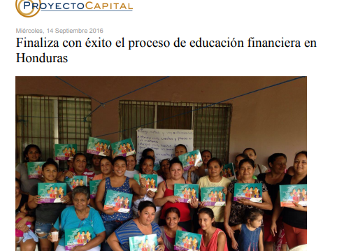 Finaliza con Éxito el Proceso de Educación Financiera en Honduras