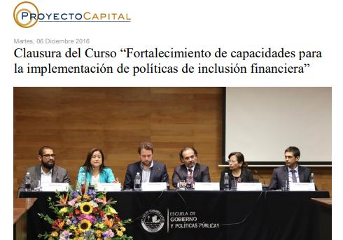 """Clausura del Curso """"Fortalecimiento de Capacidades para la Implementación de Políticas de Inclusión Financiera"""""""