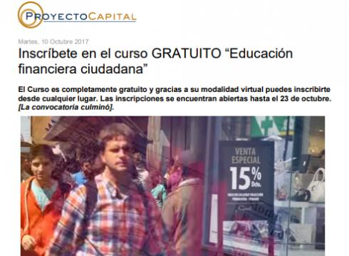 """Inscríbete en el curso GRATUITO """"Educación financiera ciudadana"""""""