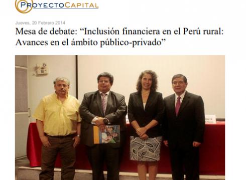 """Mesa de Debate: """"Inclusión Financiera en el Perú Rural: Avances en el Ámbito Público-Privado"""""""